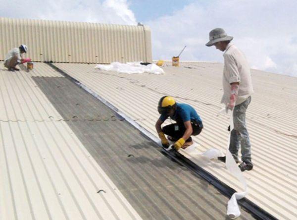 Ánh Dương sửa mái tôn ở xưởng Long Biên