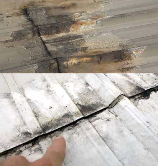 Mái tôn bị dột ở vị trí nối mái