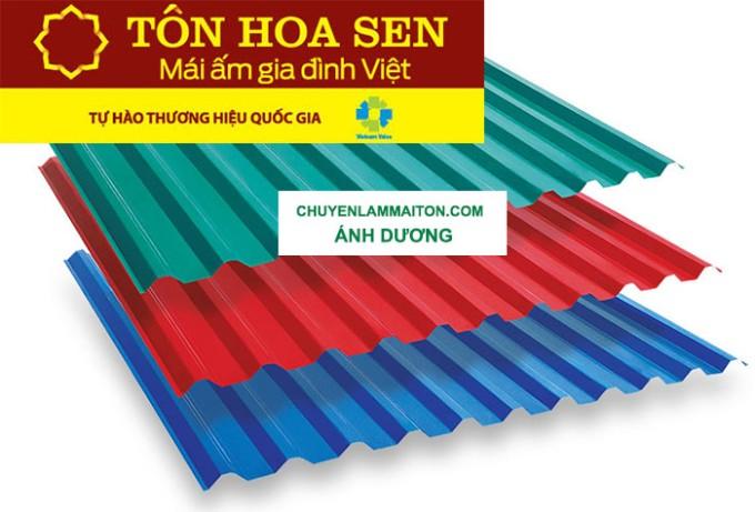 Ánh Dương phân phối tôn Hoa Sen