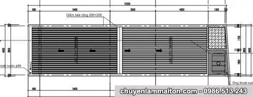 bản vẽ nhà cấp 4 mái tôn 4x14