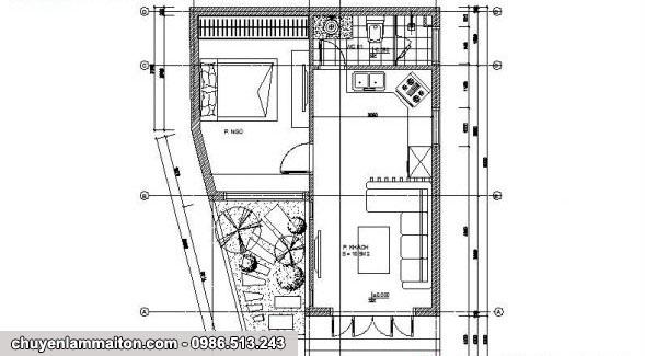 Bản vẽ nhà cấp 4 mái tôn 42m2
