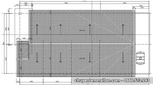 Bản vẽ nhà cấp 4 mái tôn 7.5x17m