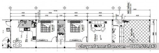 Bản vẽ nhà ống cấp 4 5x19m