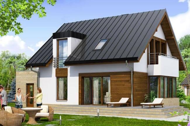 Mẫu kiến trúc nhà hiện đại bằng mái tôn cách nhiệt