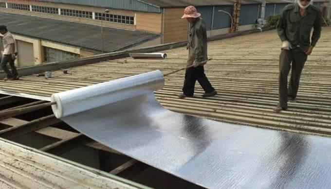 Chống nóng mái tôn bằng xốp opp 3