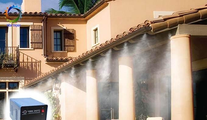 Thông gió cho nhà mái tôn bằng hệ thóng phun sương làm mát