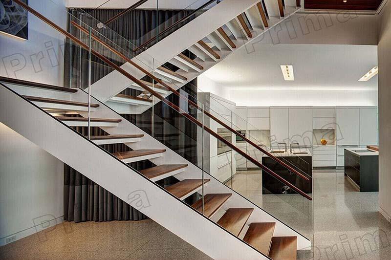 Cầu thang sắt mặt gỗ hình xương cá 29