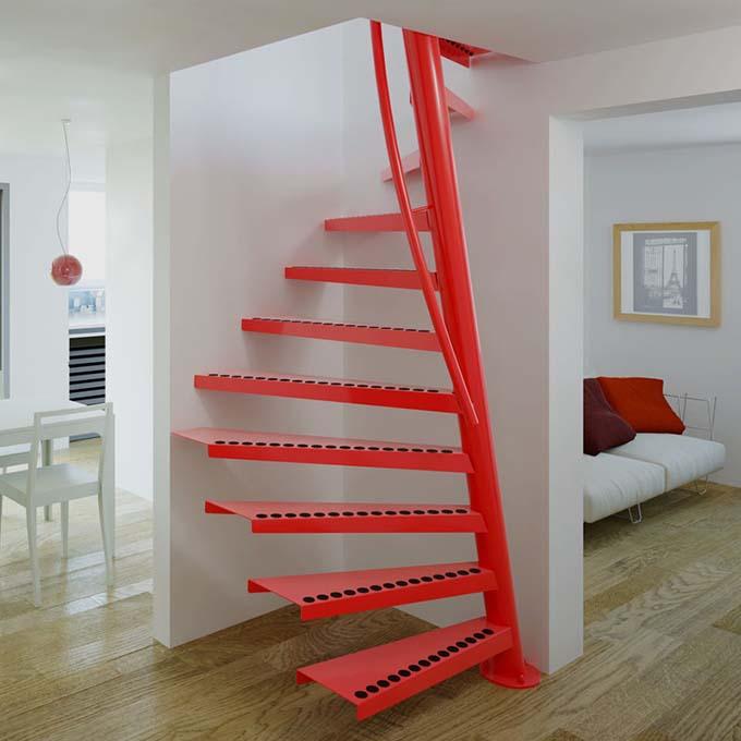 Mẫu cầu thang sắt 13