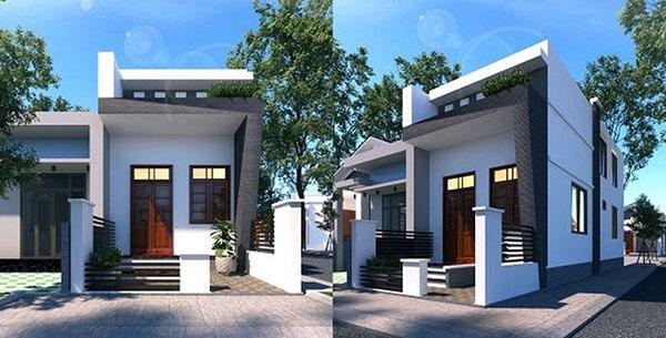 mẫu nhà 1 tầng mái bằng đẹp