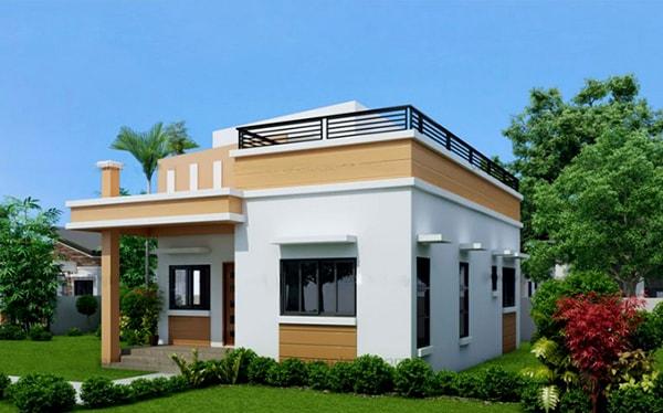 xây nhà mái bằng hay mái thái