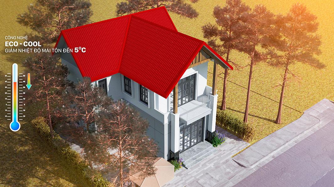 Làm mái nhà bằng vật liệu nhẹ