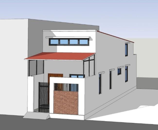 Chi phí xây nhà mái thái 5x20-2
