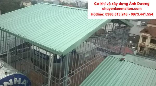 Làm mái tôn sân thượng tại Kim Ngưu