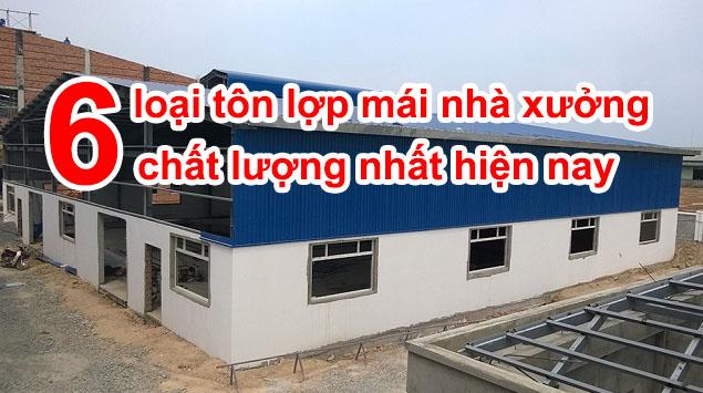 Tôn lợp mái nhà xưởng