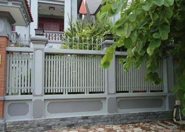 Mẫu hàng rào sắt hộp số 2