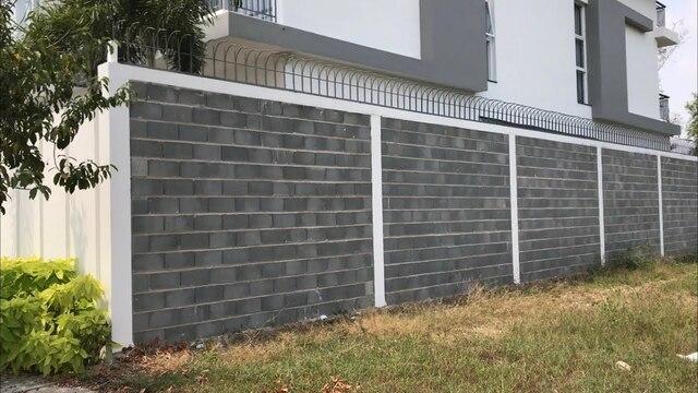 Mẫu hàng rào sắt kết hợp bê tông số 2