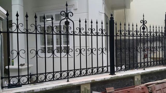 Mẫu hàng rào sắt mỹ thuật số 1