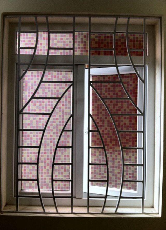 Khung sắt cửa sổ đơn giản mẫu 12