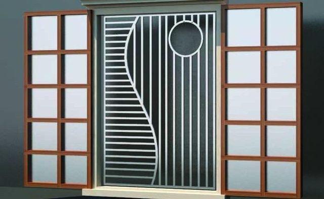 Khung sắt cửa sổ đơn giản mẫu 13