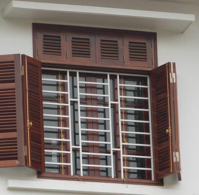 Khung sắt cửa sổ đơn giản mẫu 5
