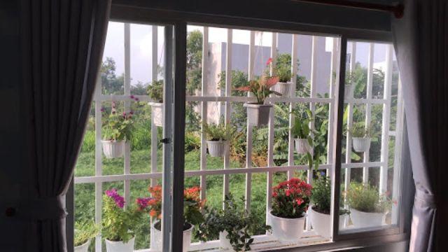 Khung sắt cửa sổ đơn giản mẫu 8