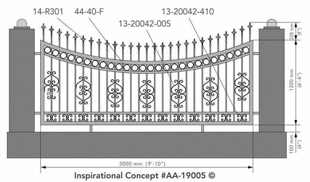 Mẫu thiết kế hàng rào sắt số 10