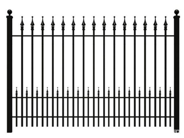 Mẫu thiết kế hàng rào sắt số 2