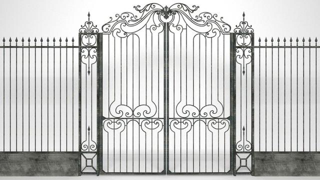 Mẫu thiết kế hàng rào sắt số 3