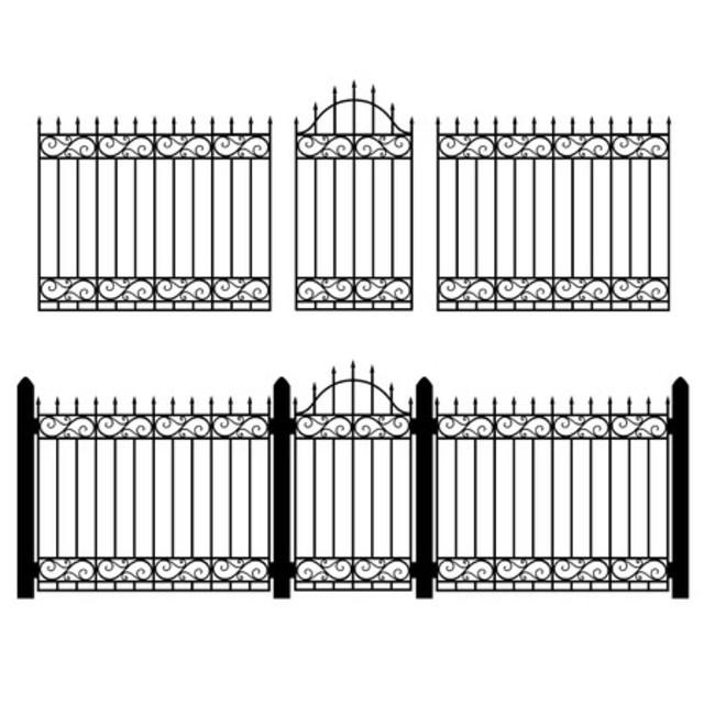 Mẫu thiết kế hàng rào sắt số 4