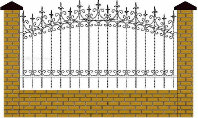 Mẫu thiết kế hàng rào sắt số 9
