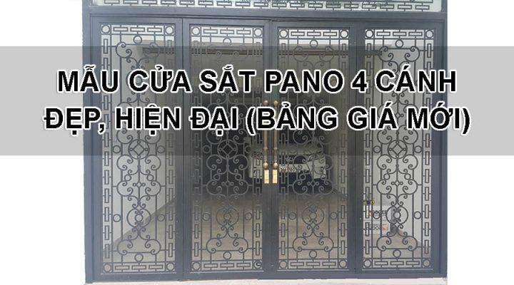 Mẫu cửa sắt Pano 4 cánh