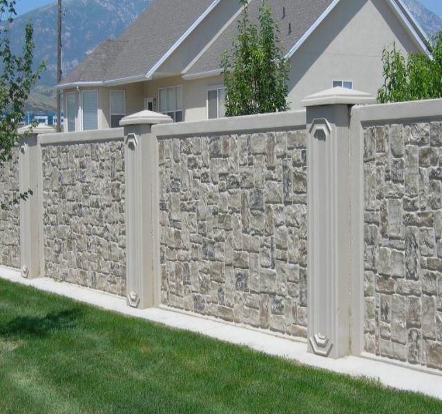 Mẫu tường rào cổng ngõ bằng đá