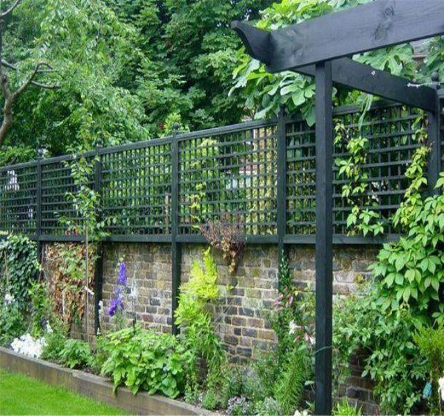 Mẫu tường rào cổng ngõ bằng gạch 4