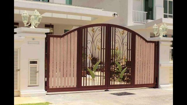 cửa cổng sắt 4 cánh đẹp 13