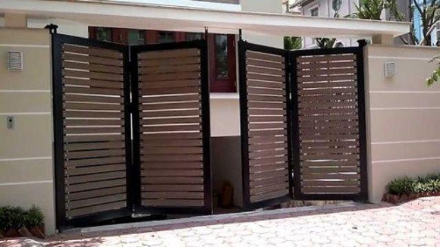 cửa cổng sắt 4 cánh đẹp 14