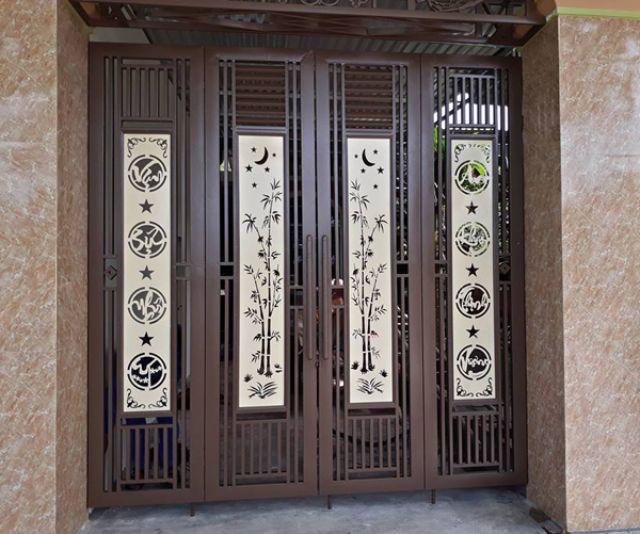 cửa cổng sắt 4 cánh đẹp 2