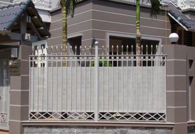 mẫu hàng rào sắt chống trộm 14
