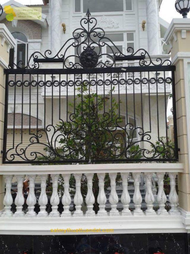 mẫu hàng rào sắt chống trộm 27