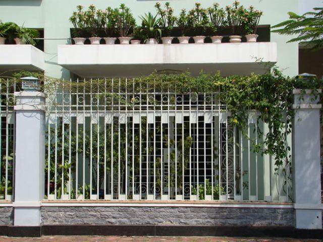 mẫu hàng rào sắt chống trộm 28