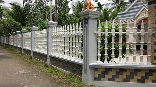 mẫu hàng rào sắt chống trộm 29