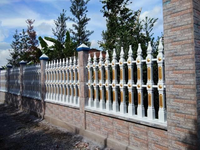 hàng rào bằng bê tông