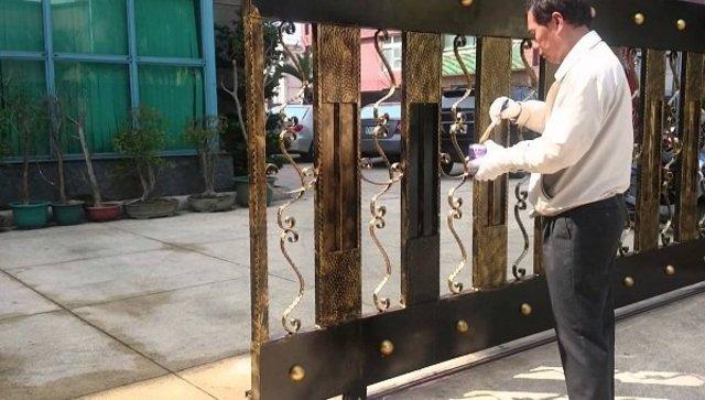 cách sơn cửa sắt cũ