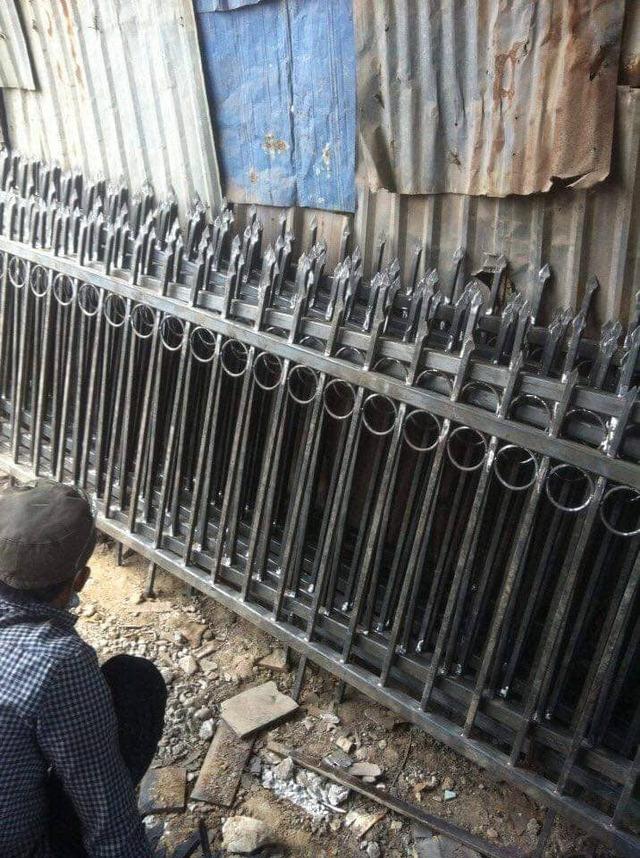 dịch vụ làm hàng rào sắt chống trộm của Ánh Dương