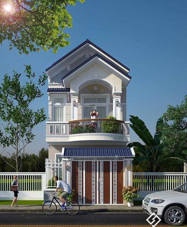 mẫu nhà 2 tầng mái tôn 11