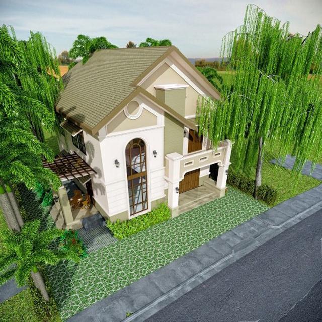 mẫu nhà 2 tầng mái tôn 3