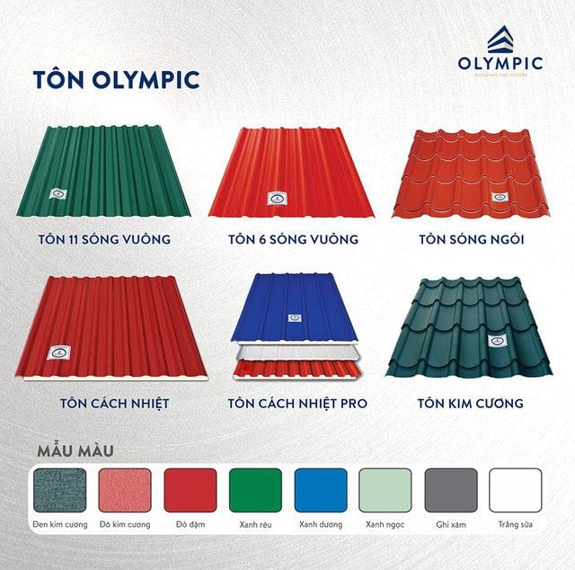 tôn Olympic là lựa chọn hàng đầu