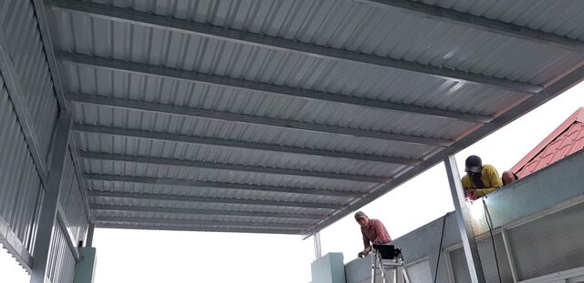 mẫu mái tôn sân nhà 5