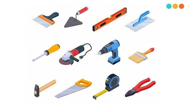 chuẩn bị các dụng cụ thi công khi lắp kèo mái tôn